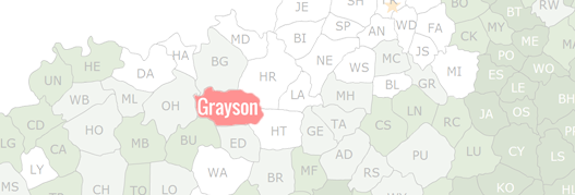 Grayson County Map