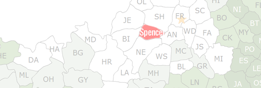Spencer County Map